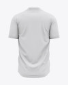 Men's Henley Collar Soccer Jersey Mockup - Back View - Football Jersey Soccer T-shirt