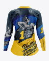 Women's MTB Trail Jersey LS mockup (Back View)