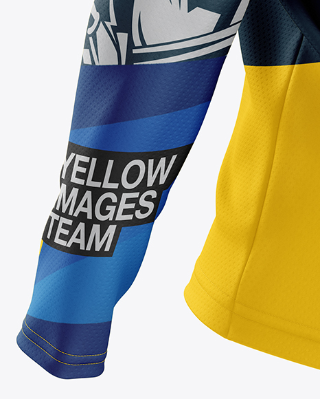 Download Mens Mtb Trail Jersey Ls Mockup Back View Yellowimages