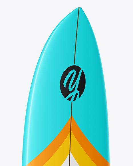 Surfboard Mockup - Front & Back Half Side Views