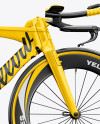 Carbon Triathlon Bicycle Mockup - Right Side View