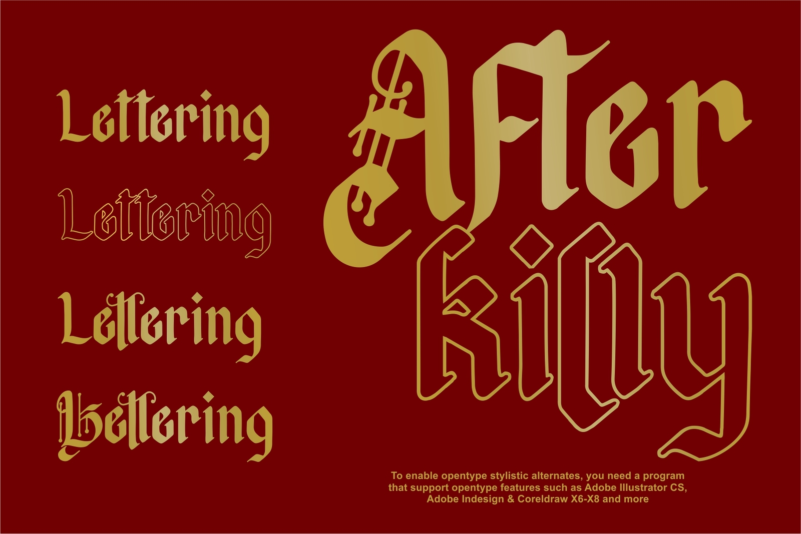 Afterkilly - New Blackletter