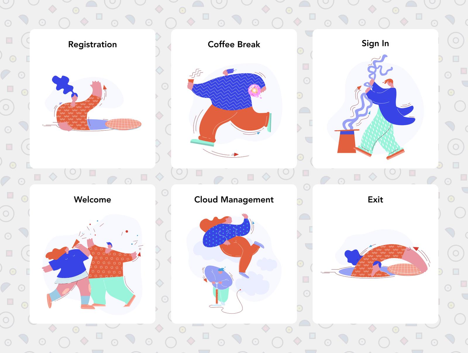 Candy Shop Illustrations