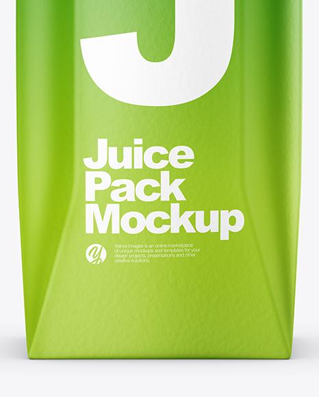 250ml Matte Juice Carton Package Mockup