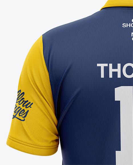 Men's Regular Short Sleeve Cricket Jersey / Polo Shirt - Back View Of Soccer Jersey
