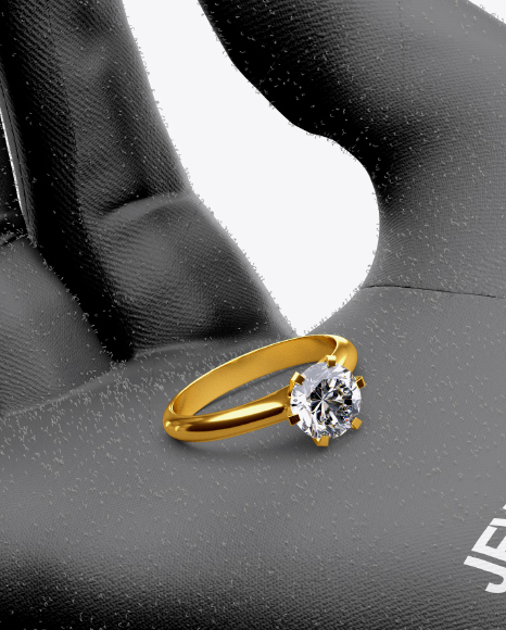 Jewelry Glove w/ Ring Mockup