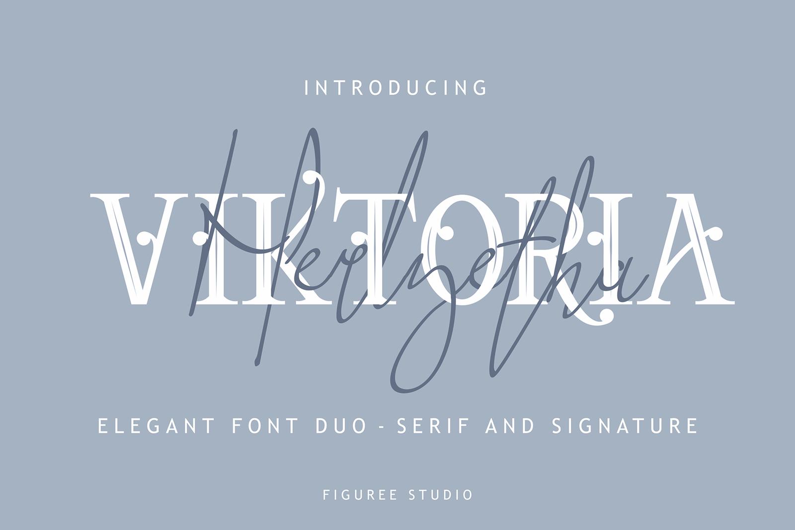 Viktoria // Elegant Font Duo