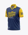 Men's Regular Short Sleeve Cricket Jersey / Polo Shirt - Front Half Side View Of Soccer Jersey