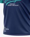 Men's Regular Short Sleeve Cricket Jersey / Polo V-Neck Shirt - Front Half Side View