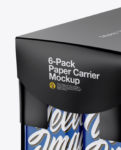 6-Pack Paper Carrier Mockup