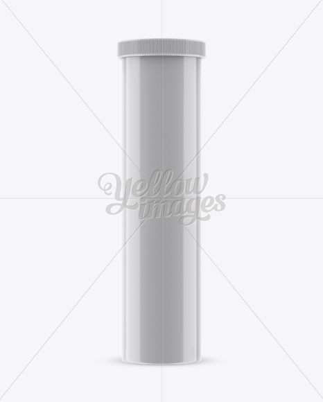 Download Glossy Plastic Effervescent Tablets Tube Mockup Front View In Tube Mockups On Yellow Images Object Mockups PSD Mockup Templates