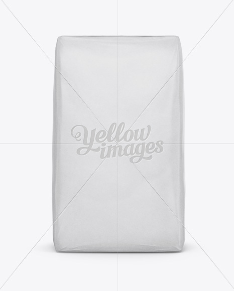 Cement Paper Bag Mockup - Front View