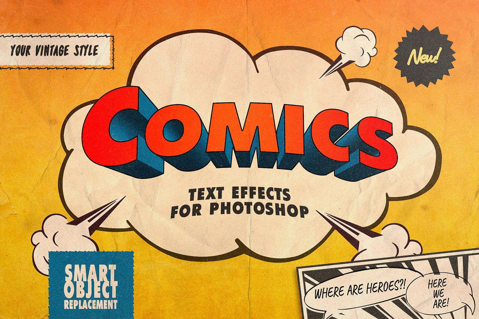 Vintage Comics Text Effects