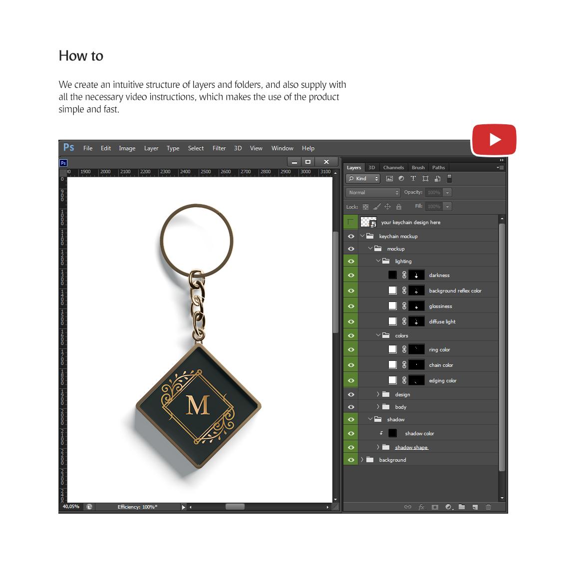 Keychain Mockup