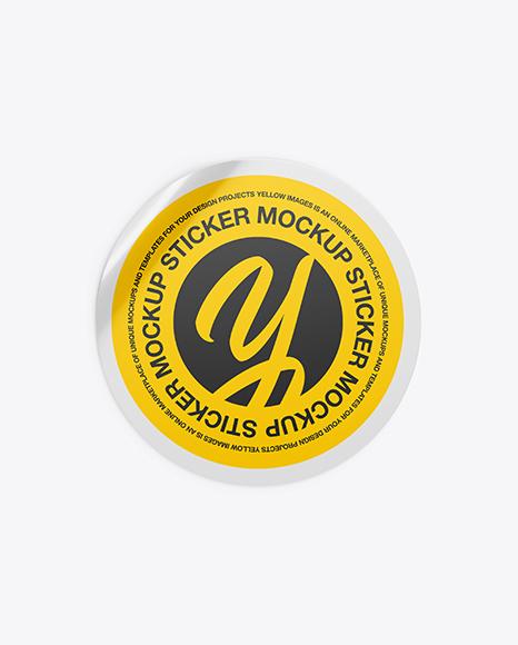 Sticker Mockup Free Download
