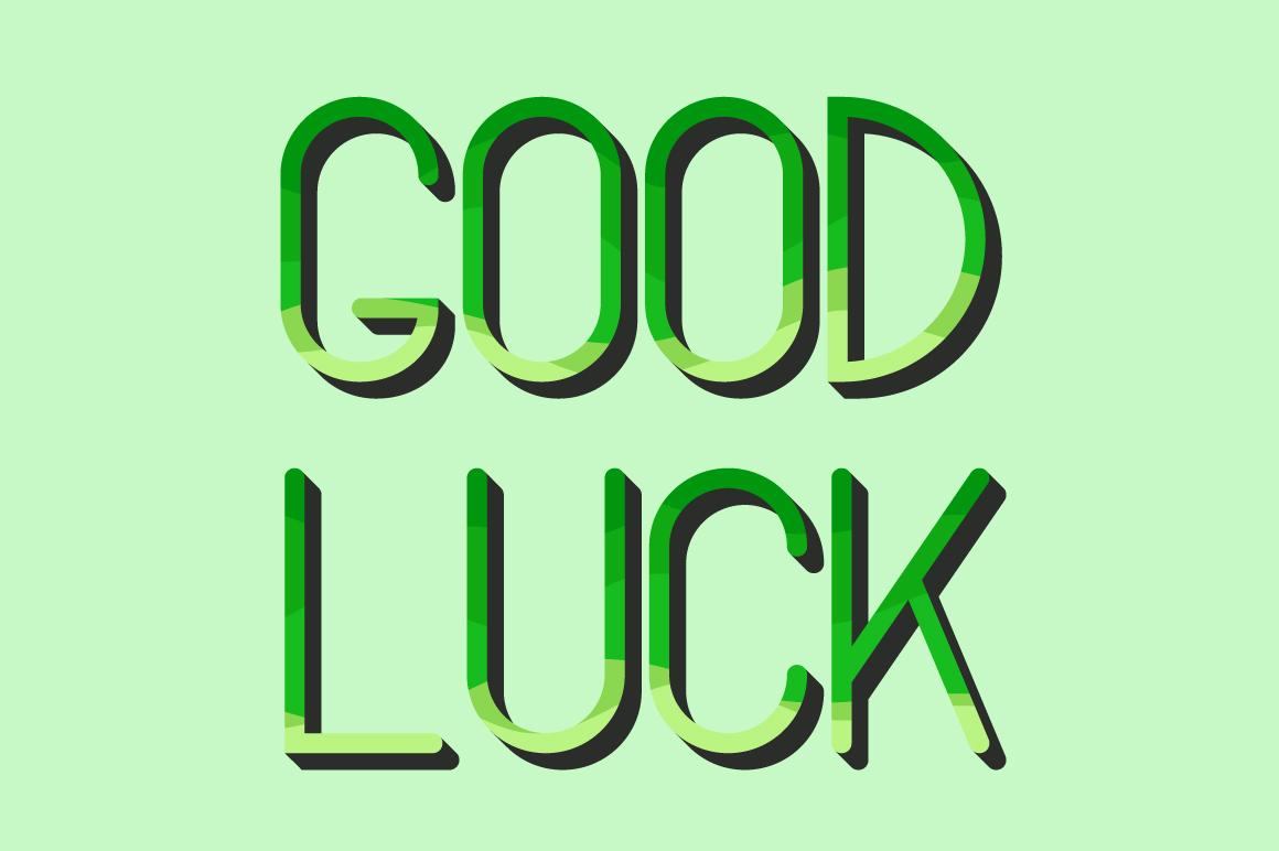 Lucky Green Font Duo