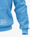 Melange Men's Full-Zip Hoodie Mockup (Front View)
