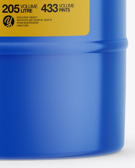 Plastic Barrel Mockup