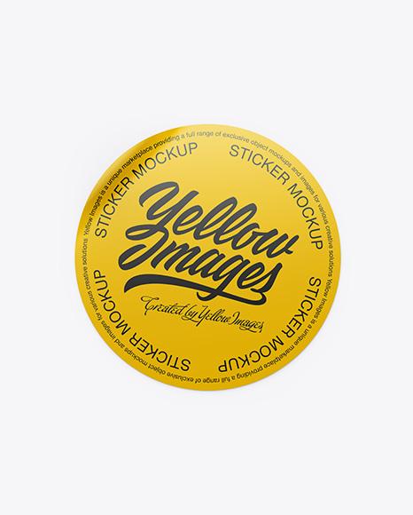 Round Sticker Mockup