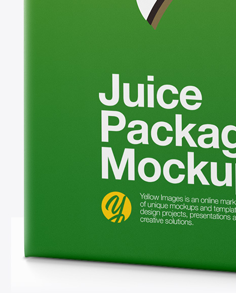 Carton Package Mockup - Half Side View