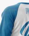 Melange Men's Raglan Long Sleeve T-Shirt Mockup
