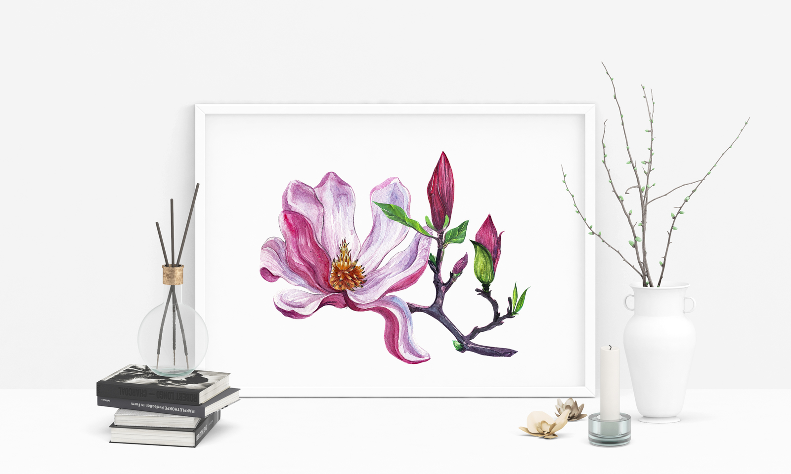 watercolor set Magnolia
