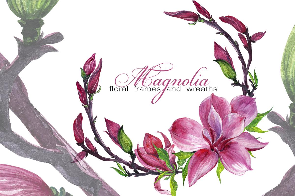 watercolor set Magnolia