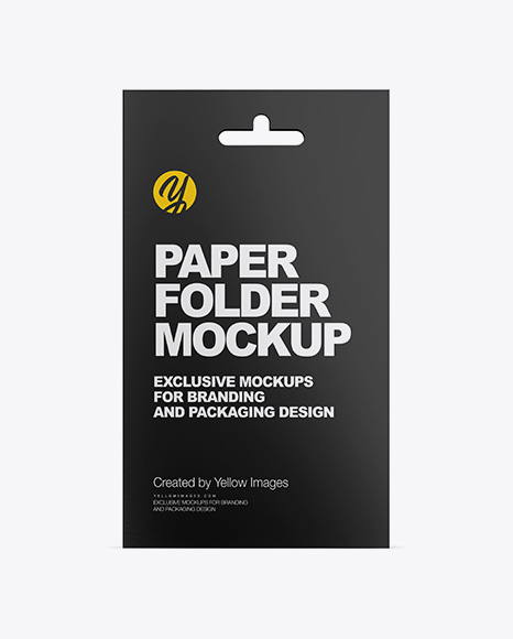 Paper Folder with Plastic Card Mockup