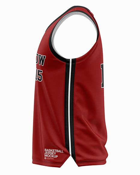 Men's Basketball Jersey Mockup - Side View