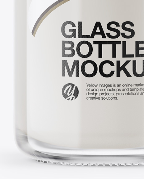 Clear Glass Milk Bottle With Clamp Lid