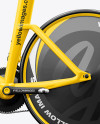 Carbon Triathlon Bicycle Mockup - Left Side View