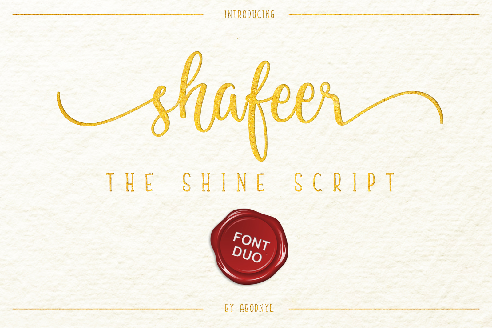 Shafeer -Perfect Font Duo-
