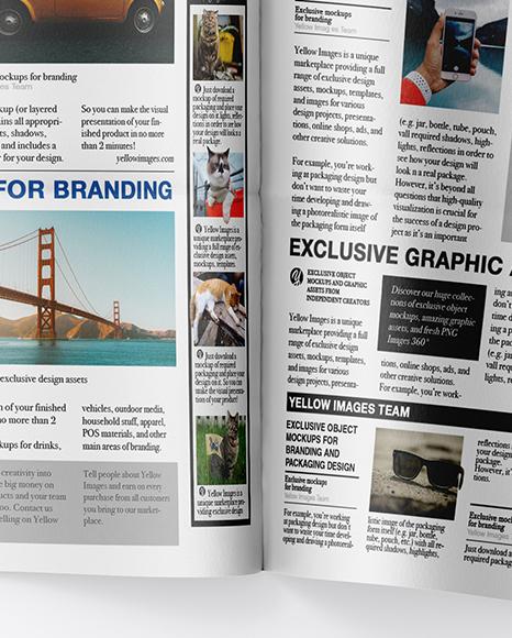 Download Newspaper Ad Mockup Free Psd PSD - Free PSD Mockup Templates