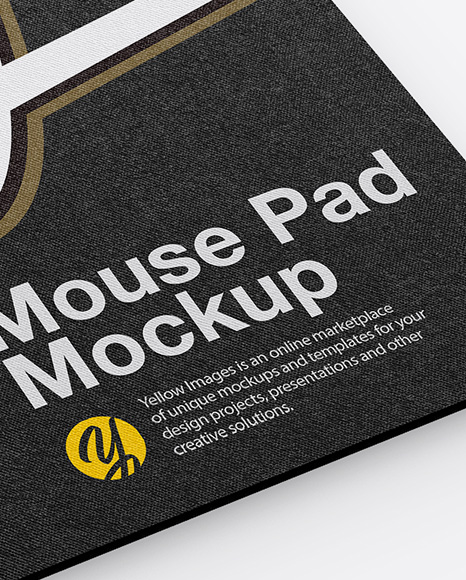 Mouse Pad Mockup In Stationery Mockups On Yellow Images Object Mockups