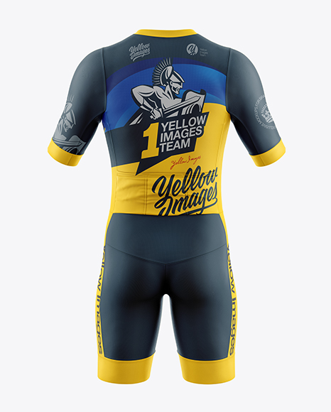 Men's Cycling Kit mockup (Back View)