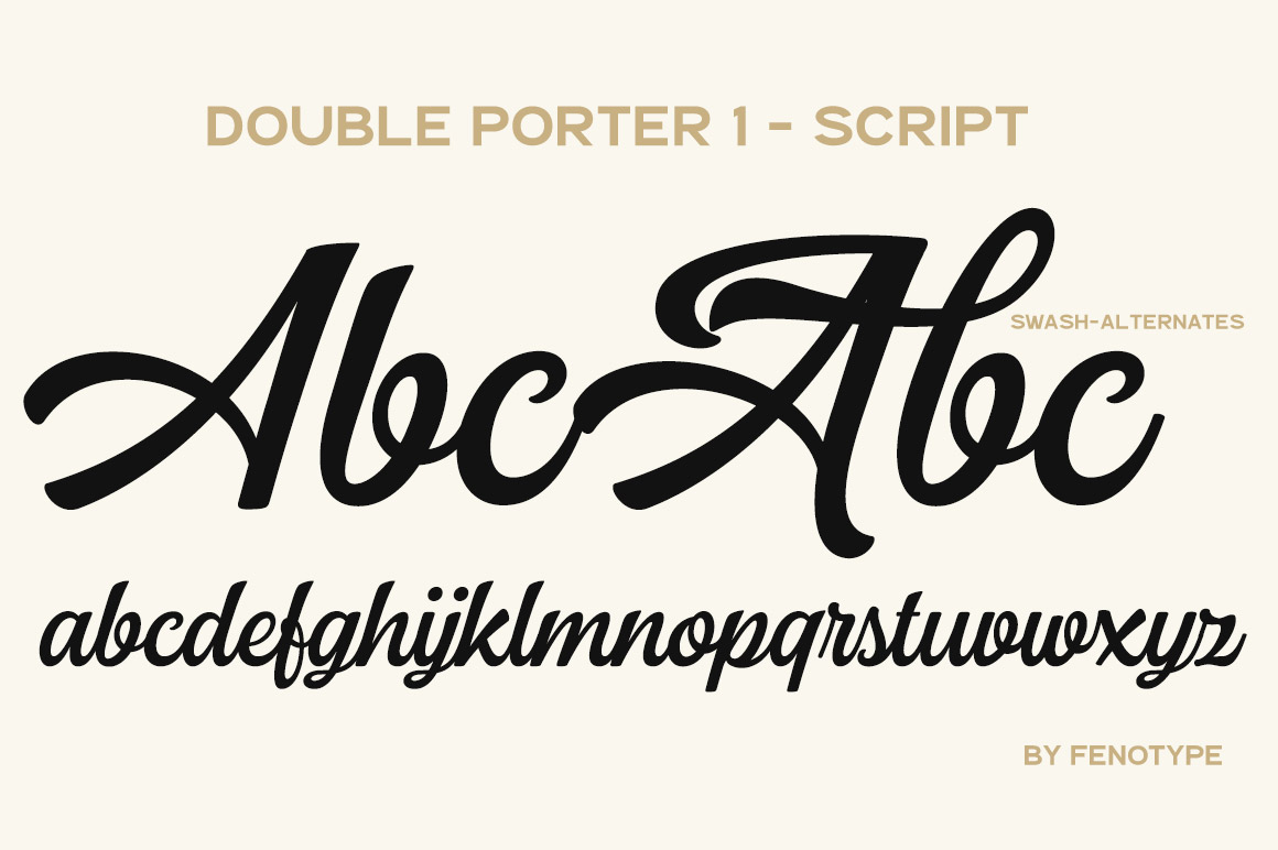 Double Porter 12 fonts + extras
