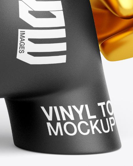 DIY Vinyl Toy Mockup - Half Side View