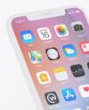 Clay Apple iPhone X Mockup