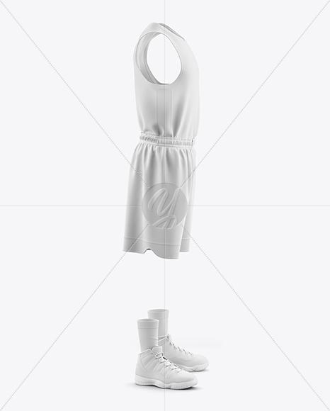 Men's Full Basketball Kit Mockup