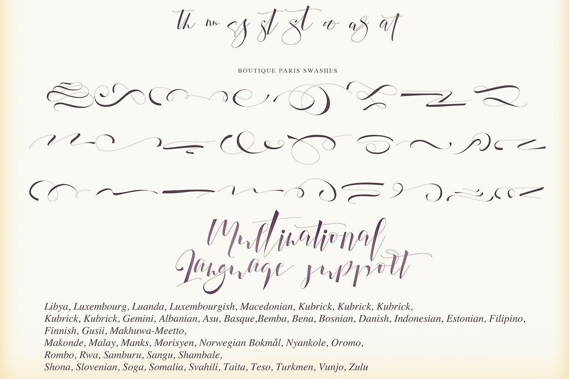 Boutique Paris - Modern Script