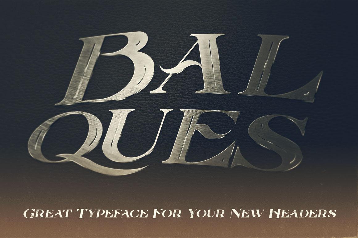 Balques Typeface