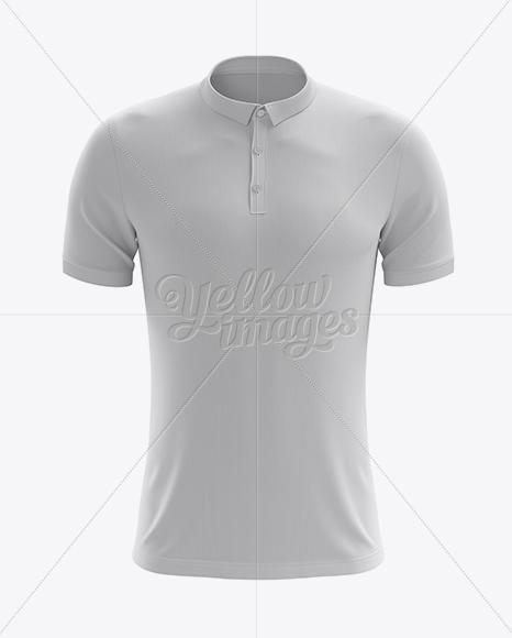 Men's Soccer Polo Shirt Mockup (Front View)