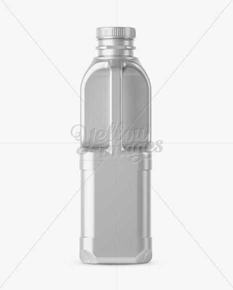 Metallic Milk Jug Mockup - Front and Back Views