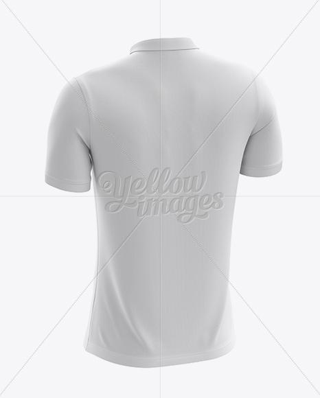 Download Mens Dress Shirt Mockup Back Half Side View Yellow Images