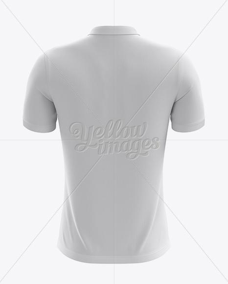 Men's Soccer Polo Shirt Mockup (Back View)