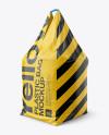 1000kg Concrete Plastic Bag Mockup - Halfside View