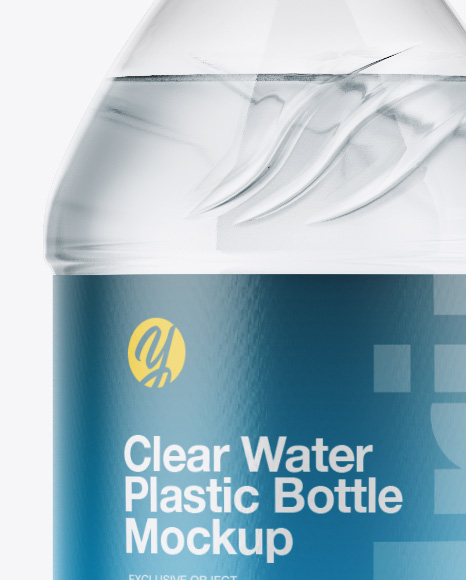 Clear Water Bottle Mockup