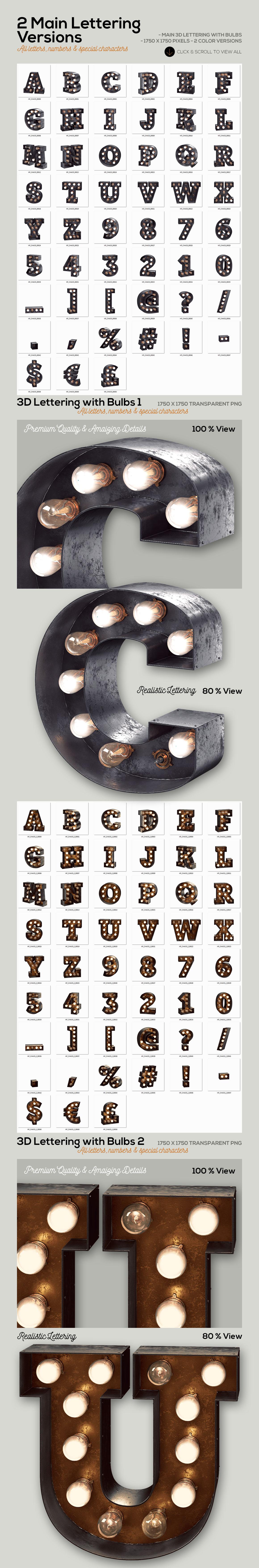 Marquee Light Bulbs 2 - Chaos