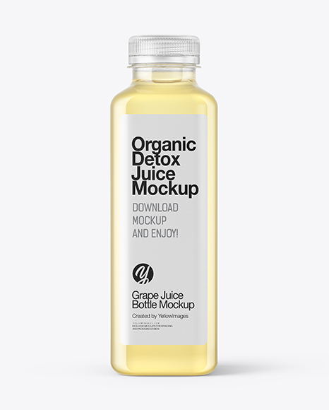 Square Grape Juice Bottle Mockup