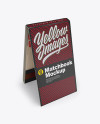 Carton Matchbook Mockup - High Angle View